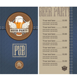Beer menu jeans vector | Price: 1 Credit (USD $1)