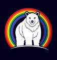 big bear standing vector image vector image