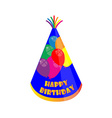 Birthday hat vector image vector image