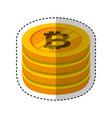 bitcoin money electronic icon vector image vector image