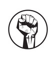 black lives matter banner raised up fist awareness vector image