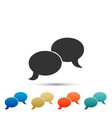 blank speech bubbles icon on white background vector image vector image