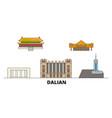 china dalian flat landmarks vector image vector image