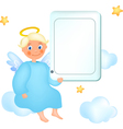 cloud angel vector image vector image