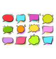 comic pop art speech bubbles halftone retro frames vector image