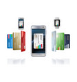 concept of mobile payments vector image vector image