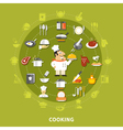 Cooking Icons Circle Collection vector image