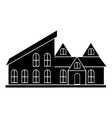 Cottage house icon simple style vector image vector image