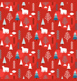 cute christmas and new year seamless pattern vector image vector image