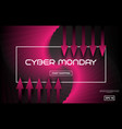 cyber monday sale techno style black and vector image