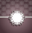 Decorative background with blank label vector image vector image