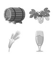 design of pub and bar symbol collection of vector image vector image