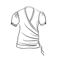 doodle gown vector image vector image