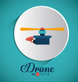 Drone design over white background vector image vector image