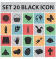 easter is a christian holiday black icons in set vector image vector image