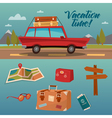 Family Vacation Time Active Summer Holidays by Car vector image vector image