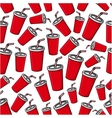 Fast food soda paper cups seamless pattern vector image vector image