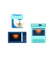 flat consumer electronics icon set vector image