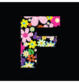 floral f vector image vector image
