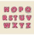 font letters set N-Z vector image