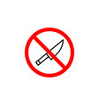 forbidden knife icon can be used for web logo vector image