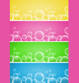 four background design with bubbles vector image