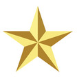 gold star icon on white background flat vector image vector image
