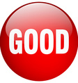 good red round gel isolated push button vector image vector image