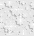 grey and white abstract paper snowflakes vector image vector image