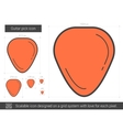 Guitar pick line icon vector image vector image