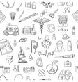 hand draw medicine pattern vector image vector image