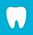 healthy white tooth silhouette icon oral dental vector image vector image