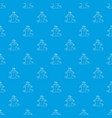 hut pattern seamless blue vector image