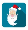 icon Santa flat style vector image vector image