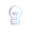 line light bulb power electric energy vector image vector image