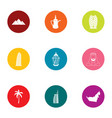 longstanding icons set flat style vector image vector image
