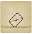Mail envelope symbol old background vector image