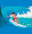 man surfing on ocean vector image