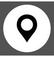 Map Marker flat black and white colors round vector image vector image