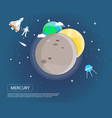 mercury venus and earth of solar system design vector image vector image