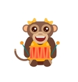 Monkey animal fun character vector image vector image