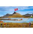 Norway landscape vector image vector image