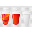 paper glasses set vector image vector image