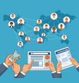 people and social network vector image vector image