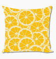 Pillow with orange pattern vector image vector image