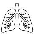 pneumonia lungs icon outline style vector image vector image