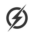 power lightning logo icon vector image vector image
