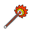 quirky comic book style cartoon hot thermometer vector image vector image