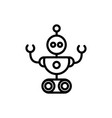 robot industrial technology character artificial vector image