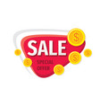sale promotion banner special offer badge vector image vector image